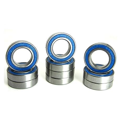10x26x8mm Precision Ball Bearings ABEC 3 Blue Rubber Seals 10