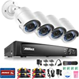 ANNKE 8CH 1080P HD-TVI H.264+ DVR 4 Caméras 2.0MP Jour/Nuit Intérieur Extérieur Système de Vidéosurveillance Caméra de Surveillance Détection de mouvement Vision Nocturne Sans Disque Dur