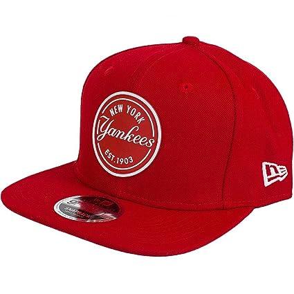 cecf1bbeddde27 New Era 9FIFTY MLB Rubber NY Yankees Cap - Scarlett - Small / Medium:  Amazon.co.uk: Clothing