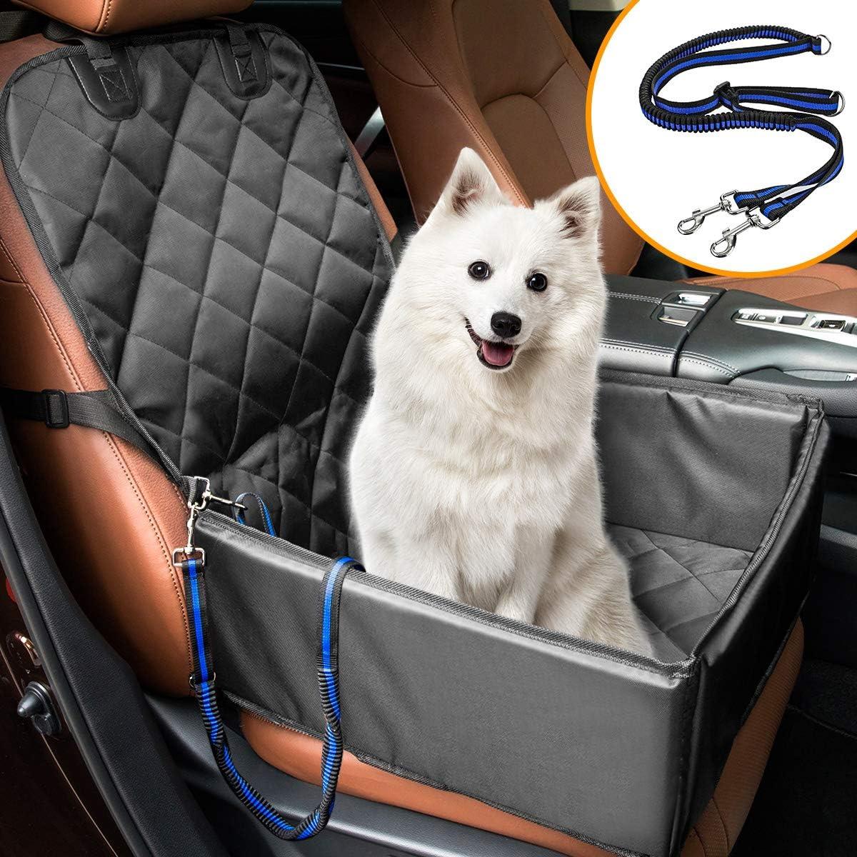 Matcc Hunde Autositz Für Kleine Mittlere Hunde Rückbank Vordersitz Hundesitz Wasserdicht Autositzbezug Hundedecke Mit Extra Hunde Sicherheitsgurt Sitzbezug Für Haustier Reise Haustier