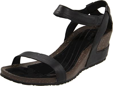 61f6f1217d6f Teva Women s Cabrillo Strap Wedge W s Black Sandal 1000070 4.5 UK