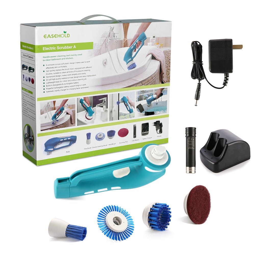 Amazon.com: Easehold Handheld Electric Power Scrubber for Bathroom ...