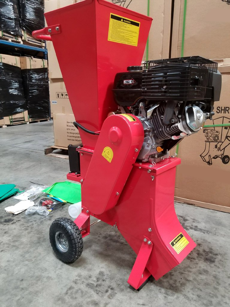 15HP 420CC Gas Powered Wood Chipper Shredder, 4'' Capacity, with Mulch Bag and Electric Start by MCP Samson Chipper (Image #4)