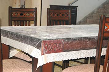 12a0f86bf Buy Home Fashion 6 Seater Luxurious PVC Dining Table Cover Online at Low  Prices in India - Amazon.in