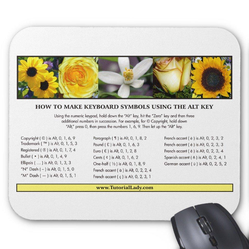 Amazon Zazzle Alt Key Symbols Mousepad Tutorial Office Products