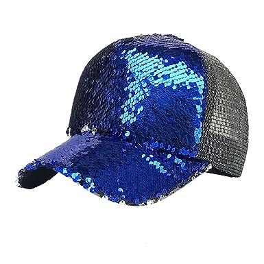Cebbay Sombreros Mujer Sombrero Casual de Malla con Lentejuelas Hip Hop Gorras de béisbol: Amazon.es: Ropa y accesorios