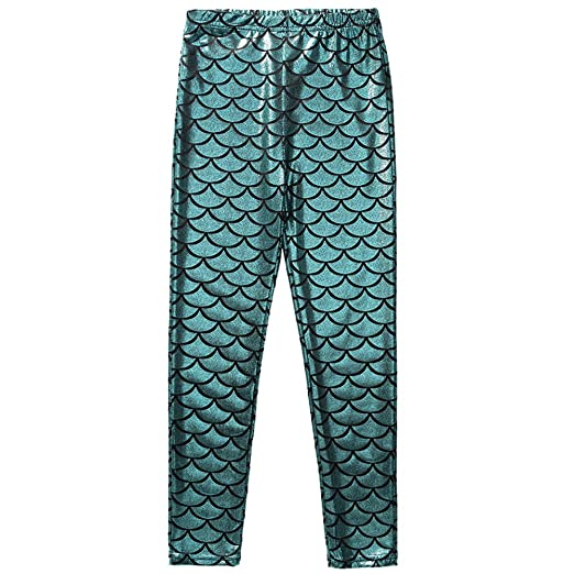 32be192cbc2d79 Frogwill Little Girls Mermaid Scale Leggings Fish Pants 3-11 Years (3/4Y