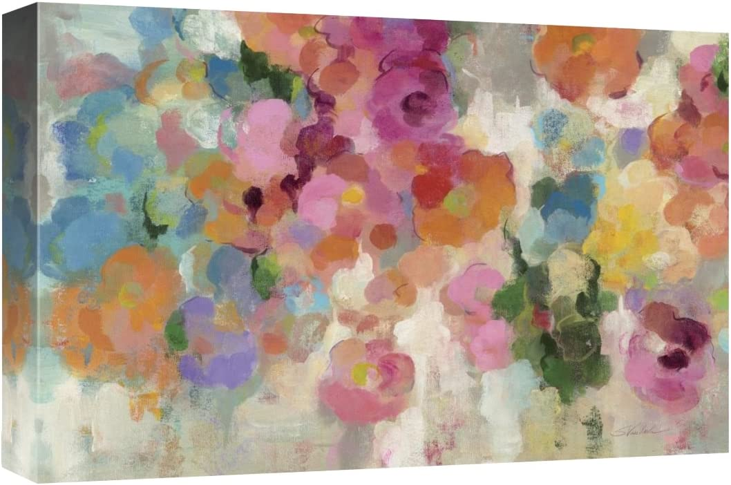 Global Gallery Silvia Vassileva, Colorful Garden I Crop' Giclee Stretched Canvas Artwork, 18 x 12