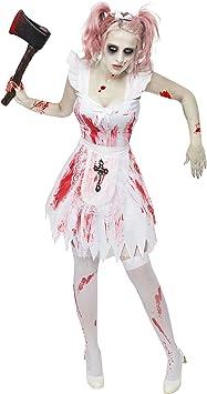 Generique - Disfraz Dama de Honor Zombie Mujer Halloween S/M ...
