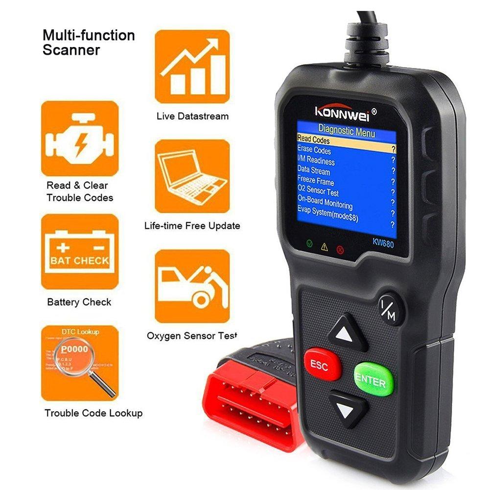 Αποτέλεσμα εικόνας για KONNWEI KW680 Code Reader Universal Car Diagnostic Scanner Tool Full OBDII EOBD Functions