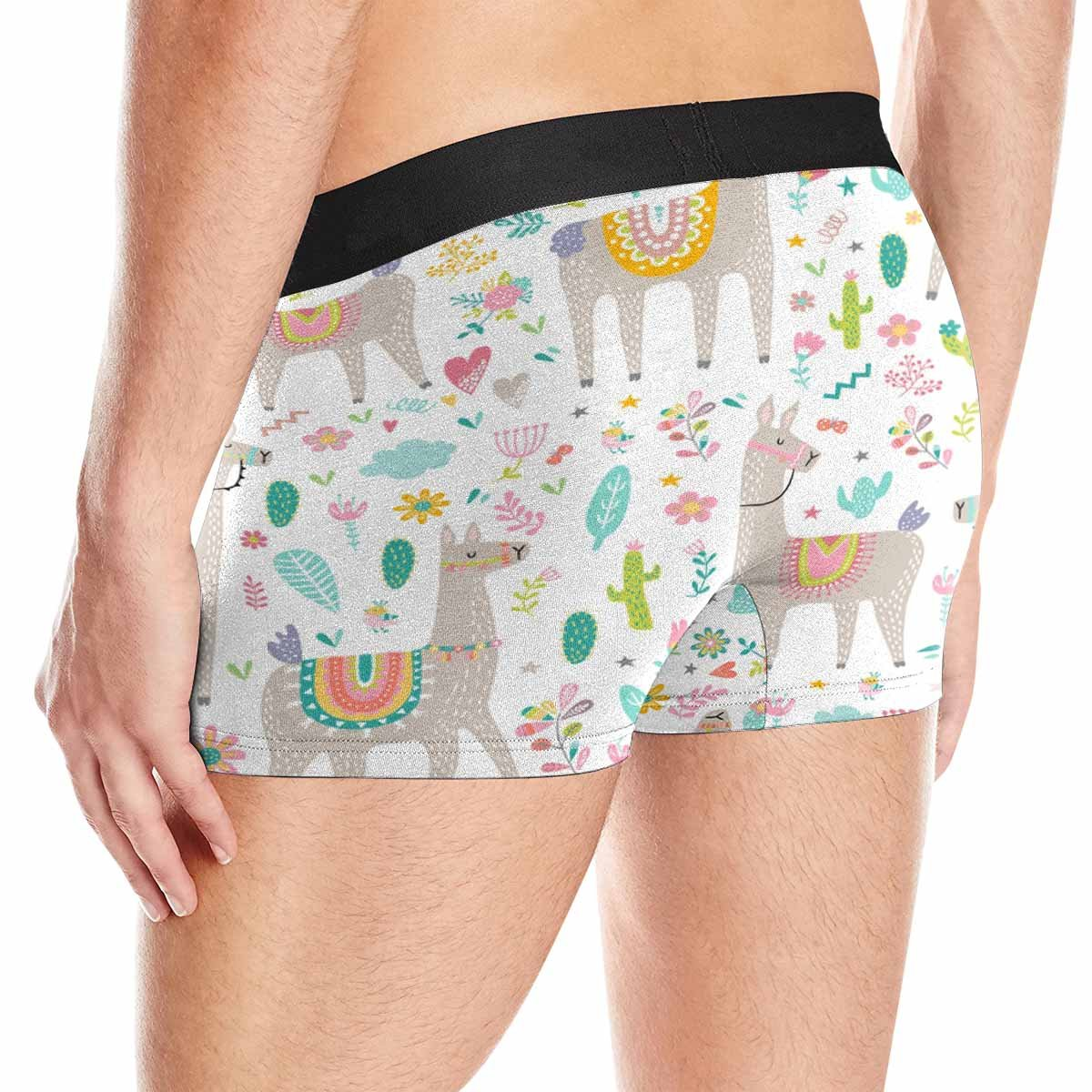 INTERESTPRINT Mens All-Over Print Boxer Briefs Wedding Couple Holding Hands with Roses XS-3XL