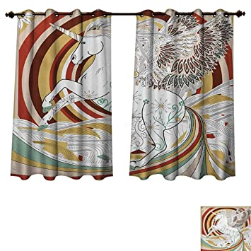 Amazon Com Rupperttextile Unicorn Bedroom Thermal Blackout Curtains