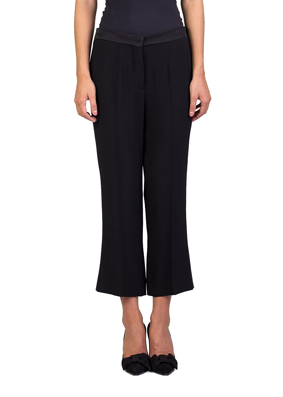 Miu Miu Women's Acetate Viscose Blend Slim Fit Pants Black