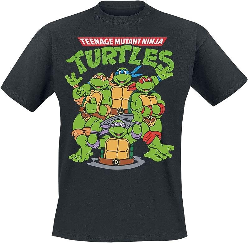 Las Tortugas Ninja Group Camiseta Negro