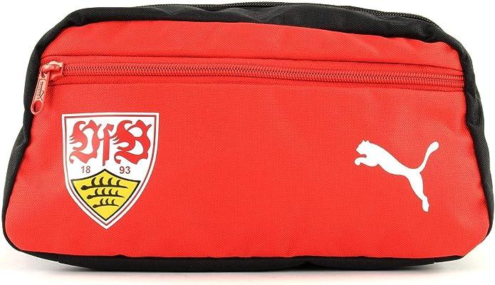 PUMA VfB Stuttgart Fanwear Wash Bag Black - Puma Red: Amazon.es: Zapatos y complementos