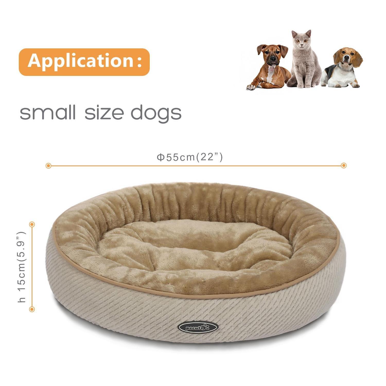 Pecute Cuccia Letto per Cani Piccoli Gatti Peluche Ultra-Morbido Rettangolare Lavabile in Lavatrice (M)