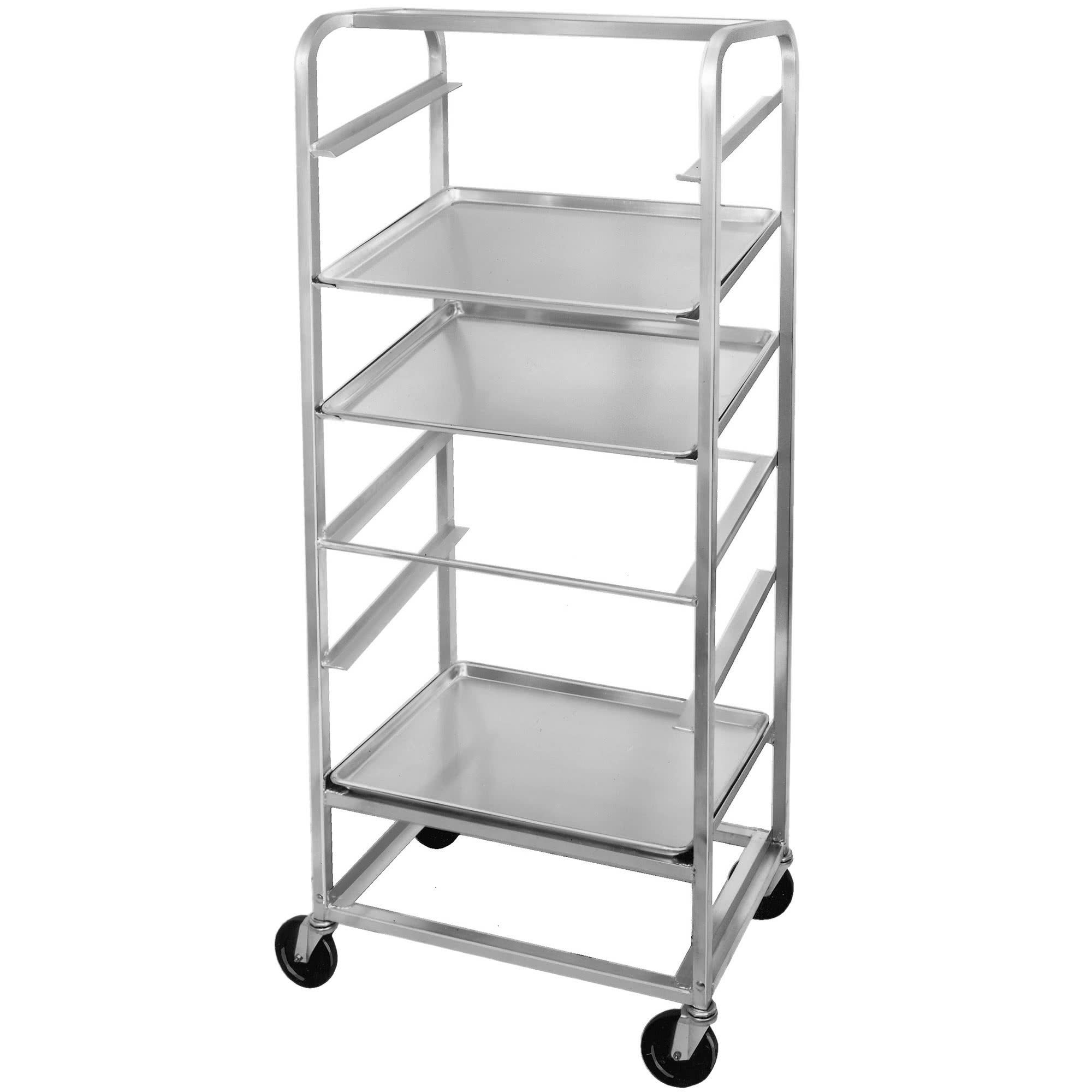 TableTop King SRS-11 11 Pan Side Load Angled Merchandising Cart