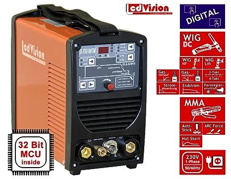 Digital DC Wig + MMA D de Tig de 180tm schw Hielo sgerät Inverter TIG