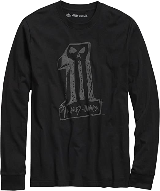 HARLEY-DAVIDSON Official Sketchy #1 Skull Slim Fit tee, Color Negro: Amazon.es: Ropa y accesorios