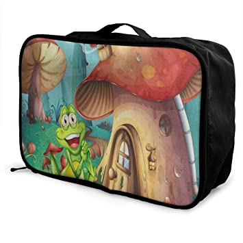Portable Luggage Duffel Bag Forest Monkey Travel Bags Carry-on In Trolley Handle