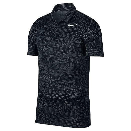 402871b7 Nike Dry Fit Breathe Jacquard Golf Polo 2017 Black/White Small