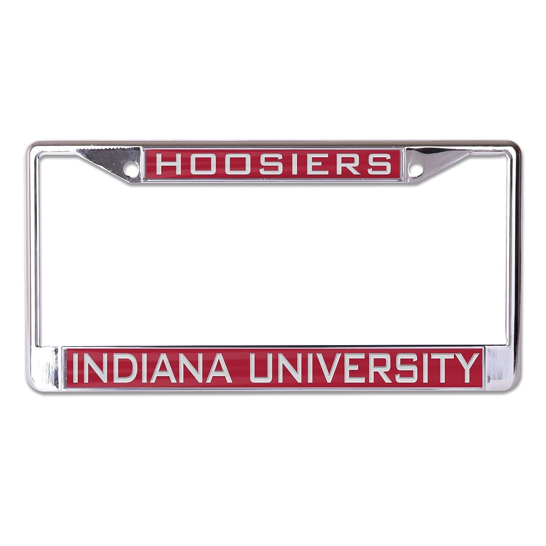 2-Tag Corners WinCraft NCAA Indiana Hoosiers Inlaid Metal License Plate Frame