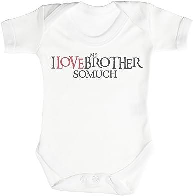 TRS - I Love My Brother So Much Regalo para bebé, Body para bebé niño, Body para bebé niña 100% Algodón: Amazon.es: Ropa y accesorios