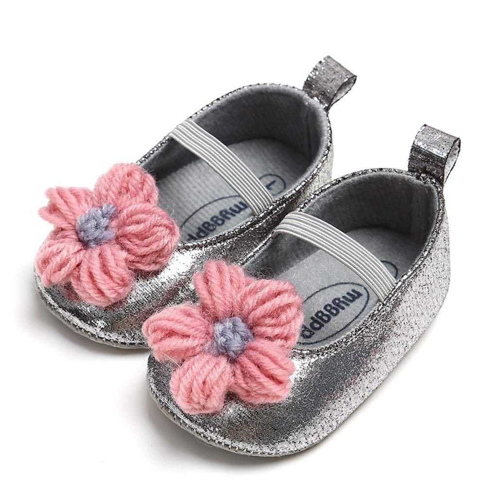NUWFOR Newborn Baby Candy Color Striped Mesh First Walkers Soft Sole Casual Shoes(Yellow,12-18 Months) by NUWFOR (Image #2)