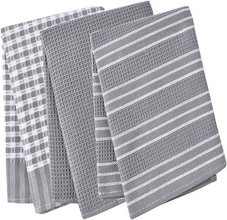 Paños de cocina, 100% algodón, de tejido de lino, diseño vintage, se pueden utilizar como