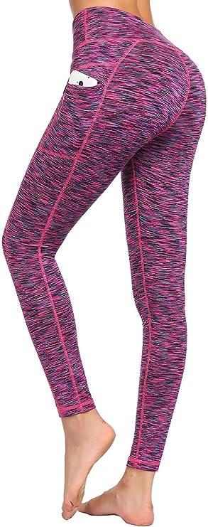 LifeSky Yoga Pants for Women with Pockets High Waist Tummy Control Leggings 4 Way Stretch Soft & Slim Active Leggings