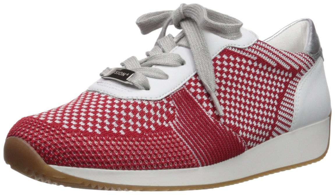 ara Women's Lilly Sneaker B074XTH9C9 5.5 B(M) US|Red Woven