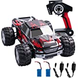 RC Car, WLtoys Electric RC Car Off Road Remote Control Car, with 2 x USB Cable and 2 x Batteries(Built-in/Standby), 1/18 Scale RC Monster Truck 2.4Ghz 4WD High Speed 30+ MPH Racing Car