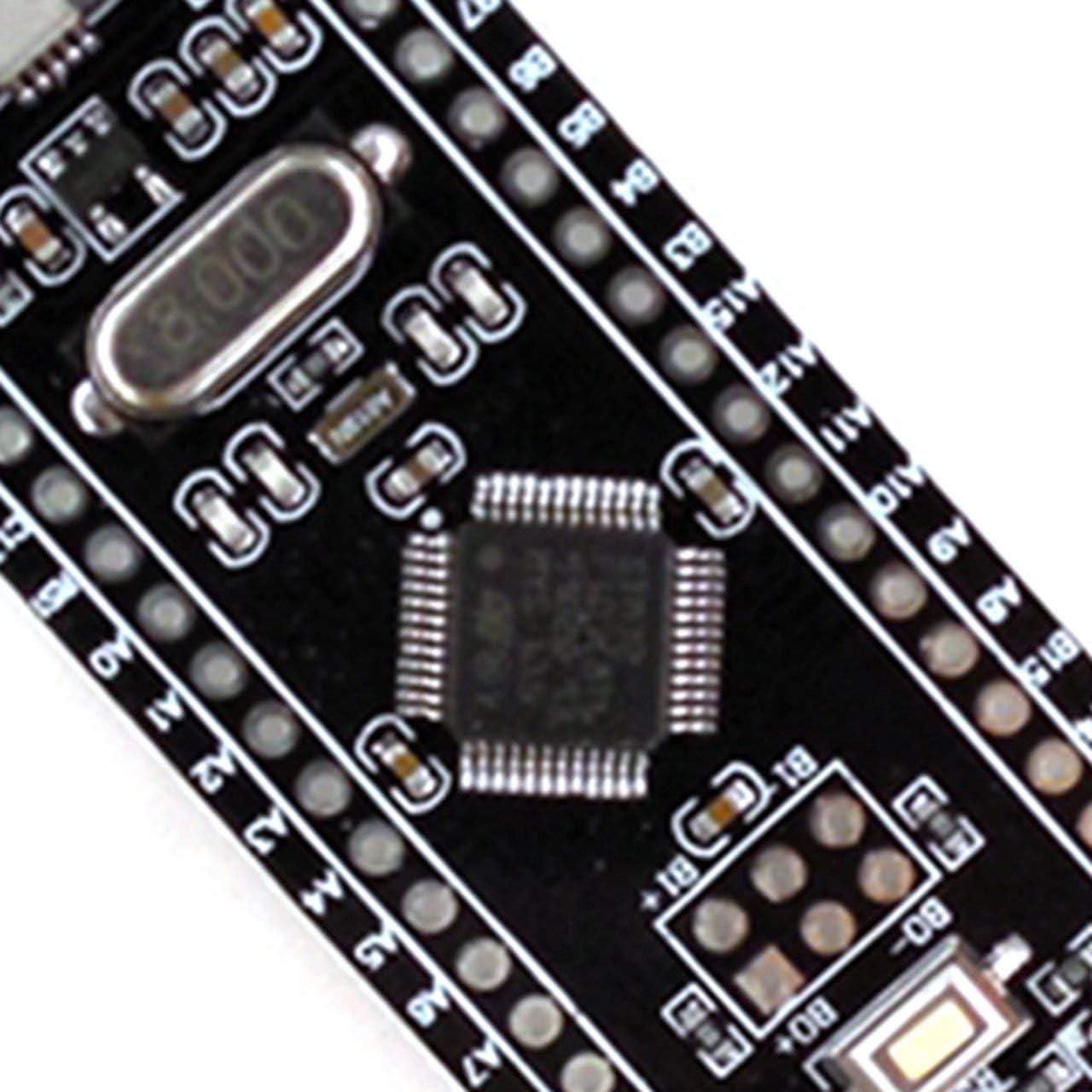 black /& yellow /& silver TY-55STM32F103C8T6 ARM STM32 Minimum System Development Board Module Micro USB controller ARM Learning Module Jasnyfall