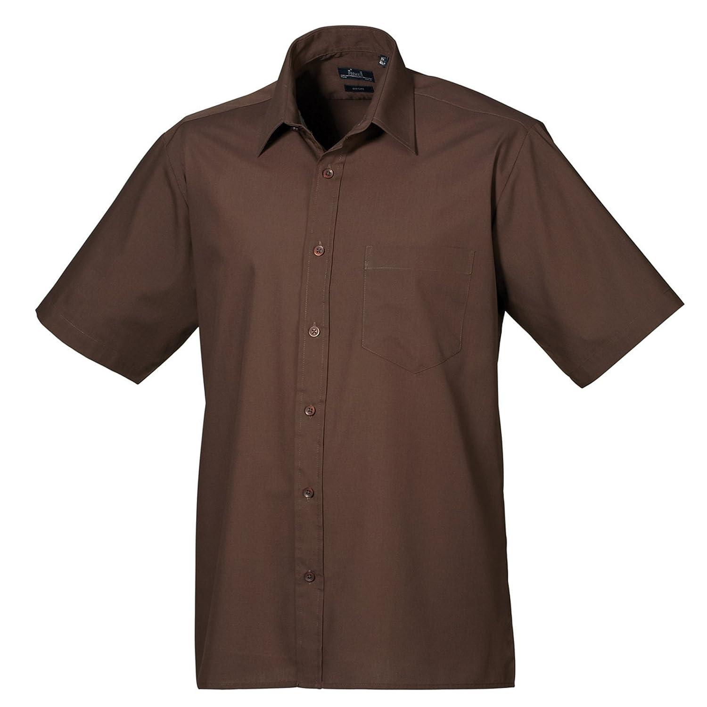 Premier Short Sleeve Poplin Shirt - 22 Colours / Collar Size 14.5 - 22 Inch