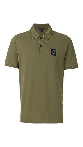 Belstaff - Polo - para Hombre Verde Verde Oliva Small: Amazon.es ...