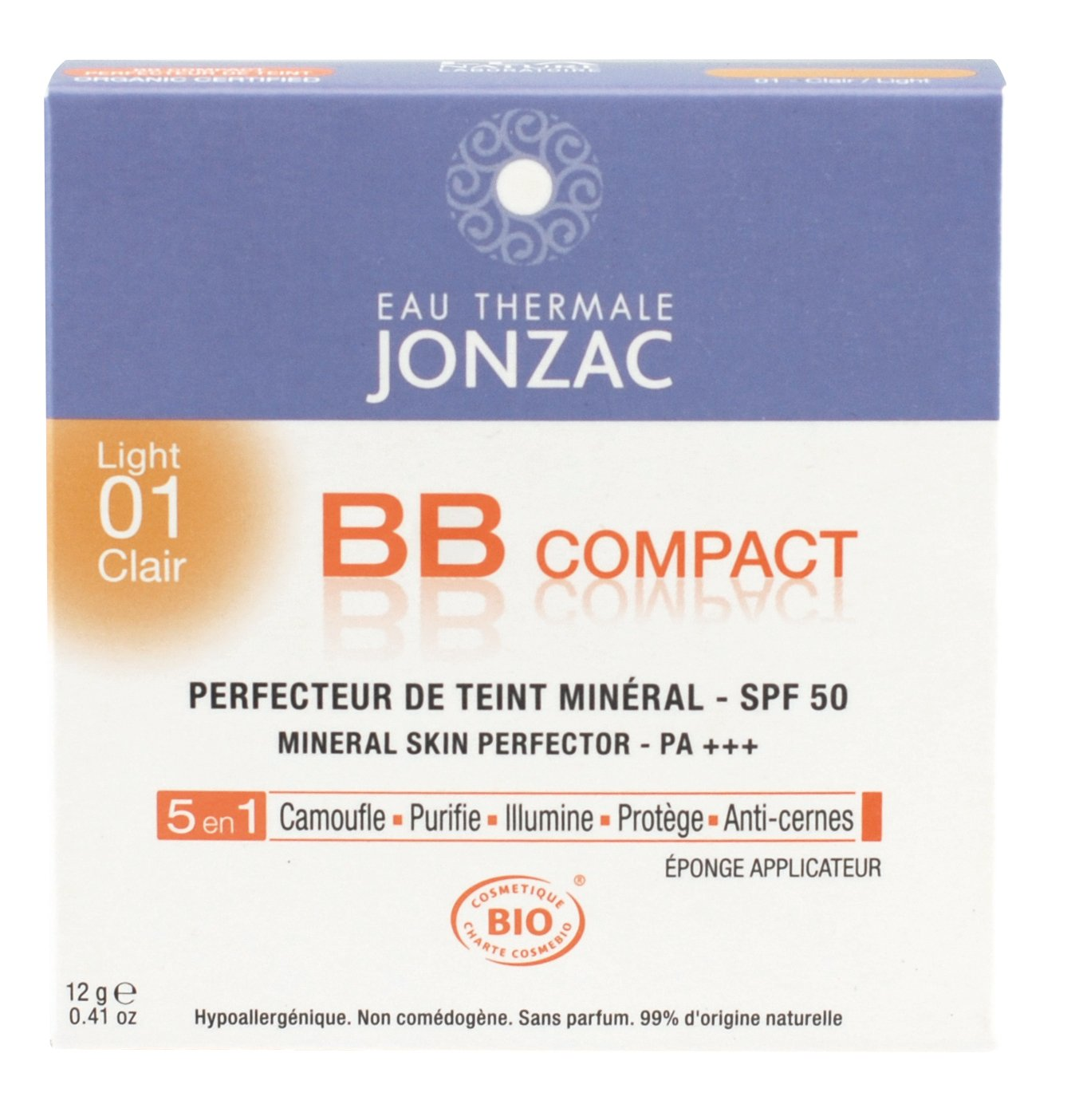 Eau Thermale Jonzac, BB cream compatta SPF 50, 01 Light LABORATOIRES NATESCIENCE SAS