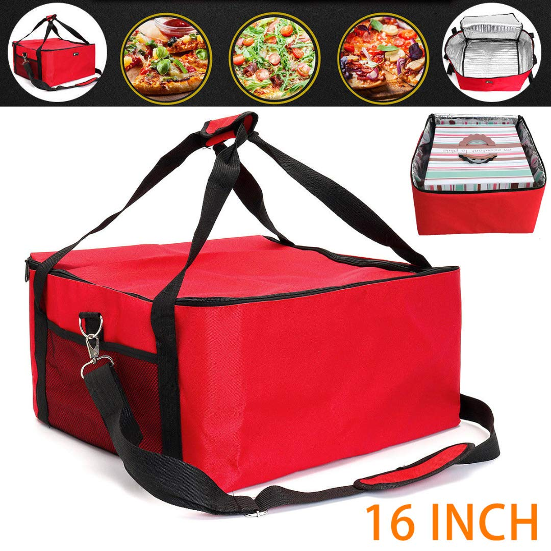 Pizza Box Pizza Transporttasche Isolierte Thermo Tasche 42x42x23 cm f/ür Lebensmitteltransport