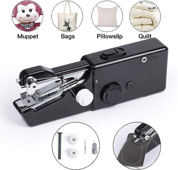 Kyhon - Máquina de Coser, Mini máquina de Coser portátil eléctrica de Mano máquina de Coser rápida y manejable Adecuada para Tela Ropa de niños (Uso en casa o Viaje): Amazon.es: Hogar