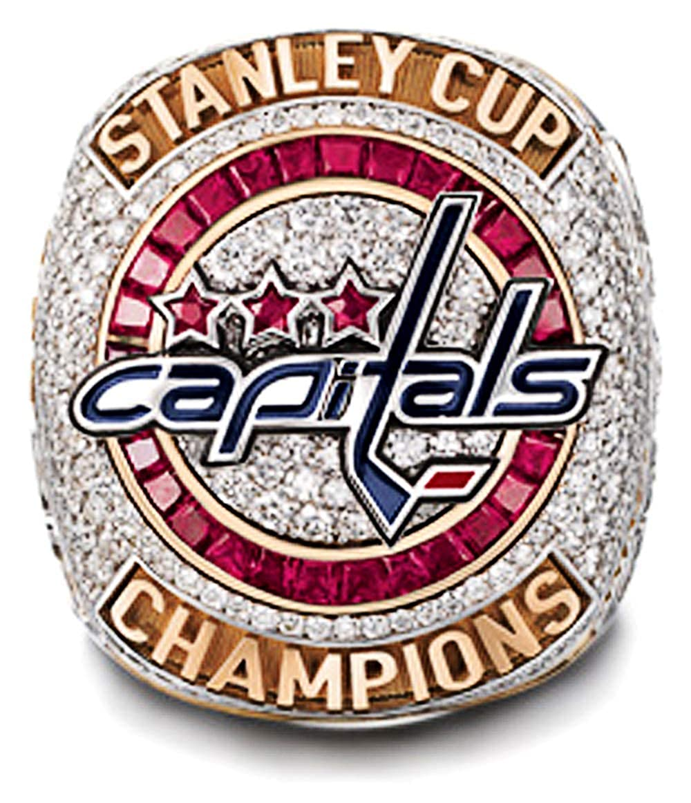RongJ store 2018 Capitals Stanley Cup Replica Hockey Champion Ring
