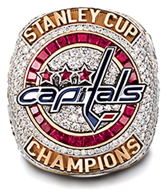 Image Unavailable. Image not available for. Color  RongJ- store 2018  Capitals Stanley Cup Replica Hockey ... 2216ed102