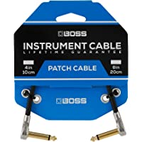BOSS BPC-4-3 – Three Pack 4in/10cm length – Space-saving pedal patch cable with slimline pancake plugs for pedalboards