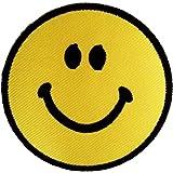 Cara sonriente Cara Feliz Pensamiento possitive Hippie Patch '7.5 x 7.5 cm' - Parche Parches Termoadhesivos Parche Bordado Parches Bordados Parches Para La Ropa Parches La Ropa Termoadhesivo Apliques Iron on Patch Iron-On Apliques