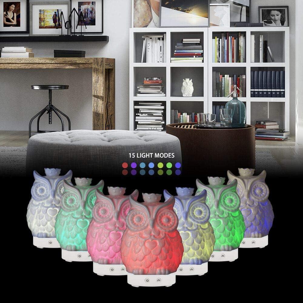 7 Farben LED Ornaments All in One ist das runder runder Reichhaltiges Upgrade fl/üsterleise Ultraschall-Luftbefeuchter aus 160ML Diffusor f/ür /ätherische /Öle-160 ml k/ühler Nebel 160ML Flamingo