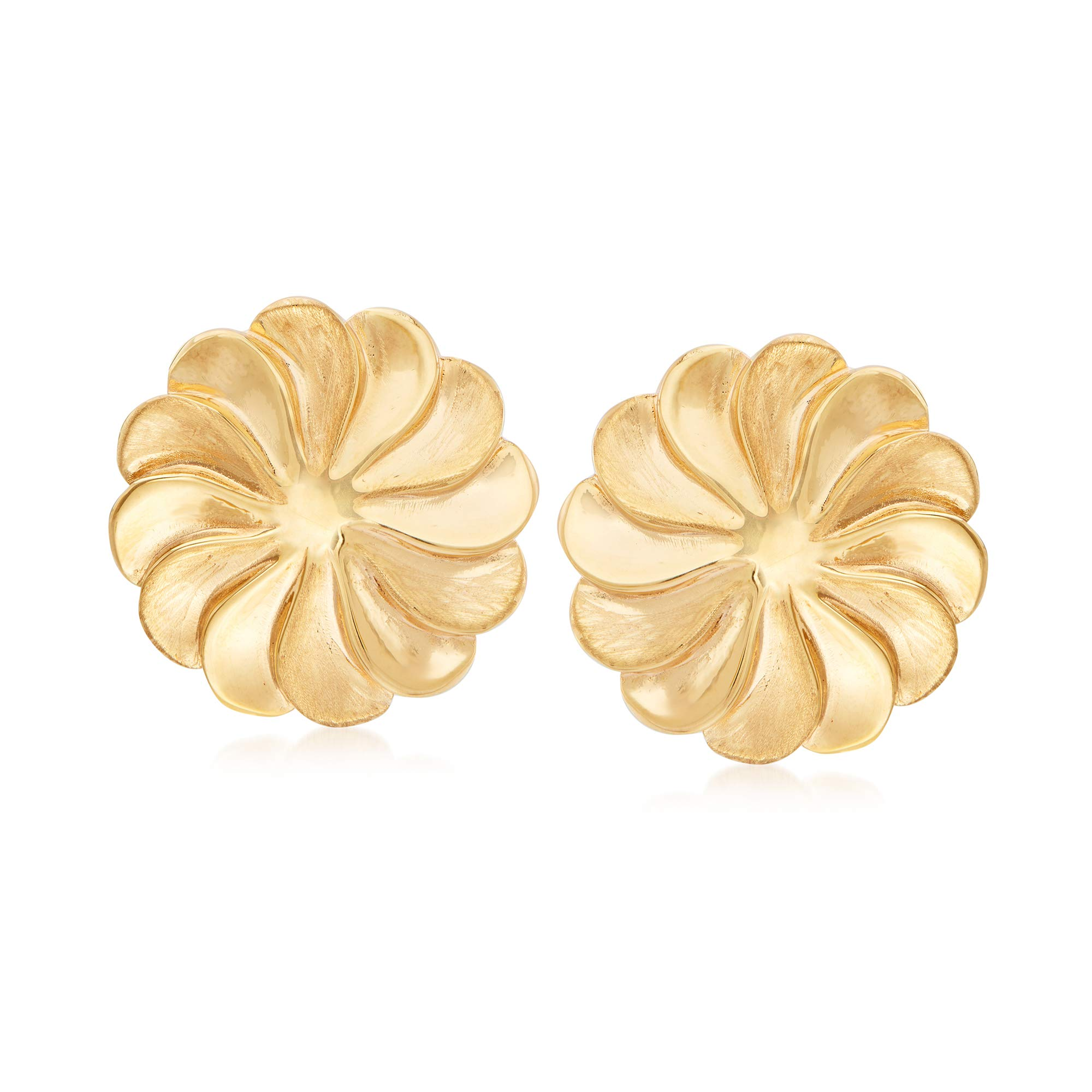 Ross-Simons Italian 18kt Yellow Gold Pinwheel Clip-On Earrings