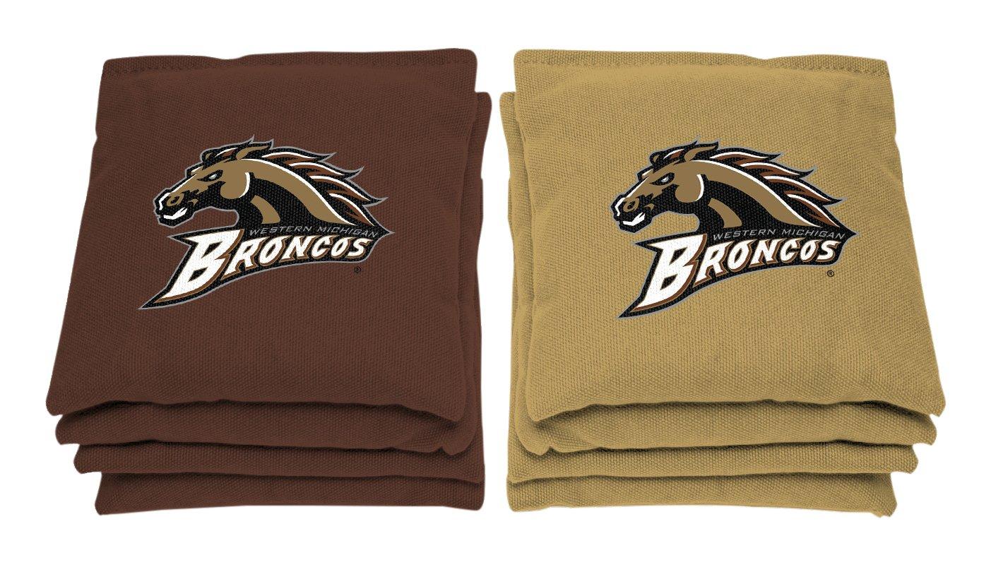 AJJ Cornhole NCAA Western Michigan Broncos Bags, 6'' x 6'', Gold