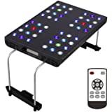 OceanRevive® Arctic-T247 Full Spectrum Dimmable 120W LED Aquarium Reef Light with Built in Timer, Bracket and remote control (48*3W, 90deg Optical Lens)