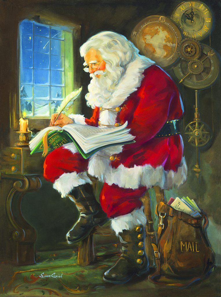 Santa's Book of Children 1000 pc Jigsaw Puzzle -Santa theme- by SunsOut