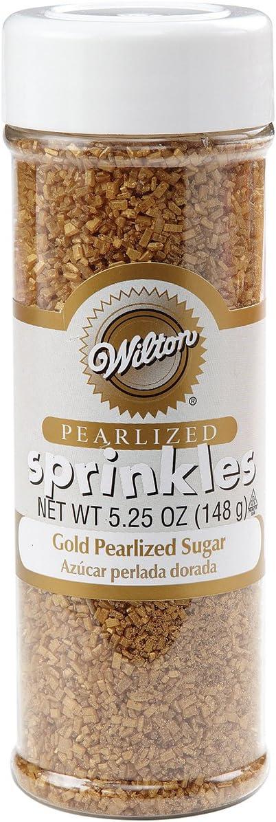 Wilton - 710-041 Wilton Gold Pearlized Sugar Sprinkles, 5.25 oz.