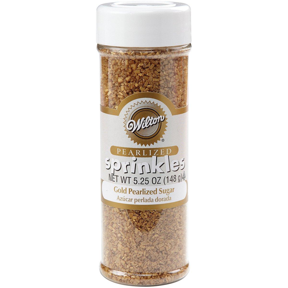 Wilton Gold Pearlized Sugar Sprinkles, 5.25 oz.