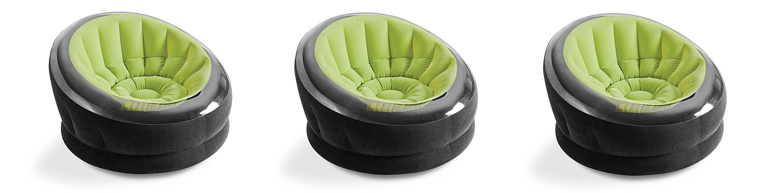 Intex Empire Inflatable Chair, 44'' X 43'' X 27'', Green (Pack of 3)